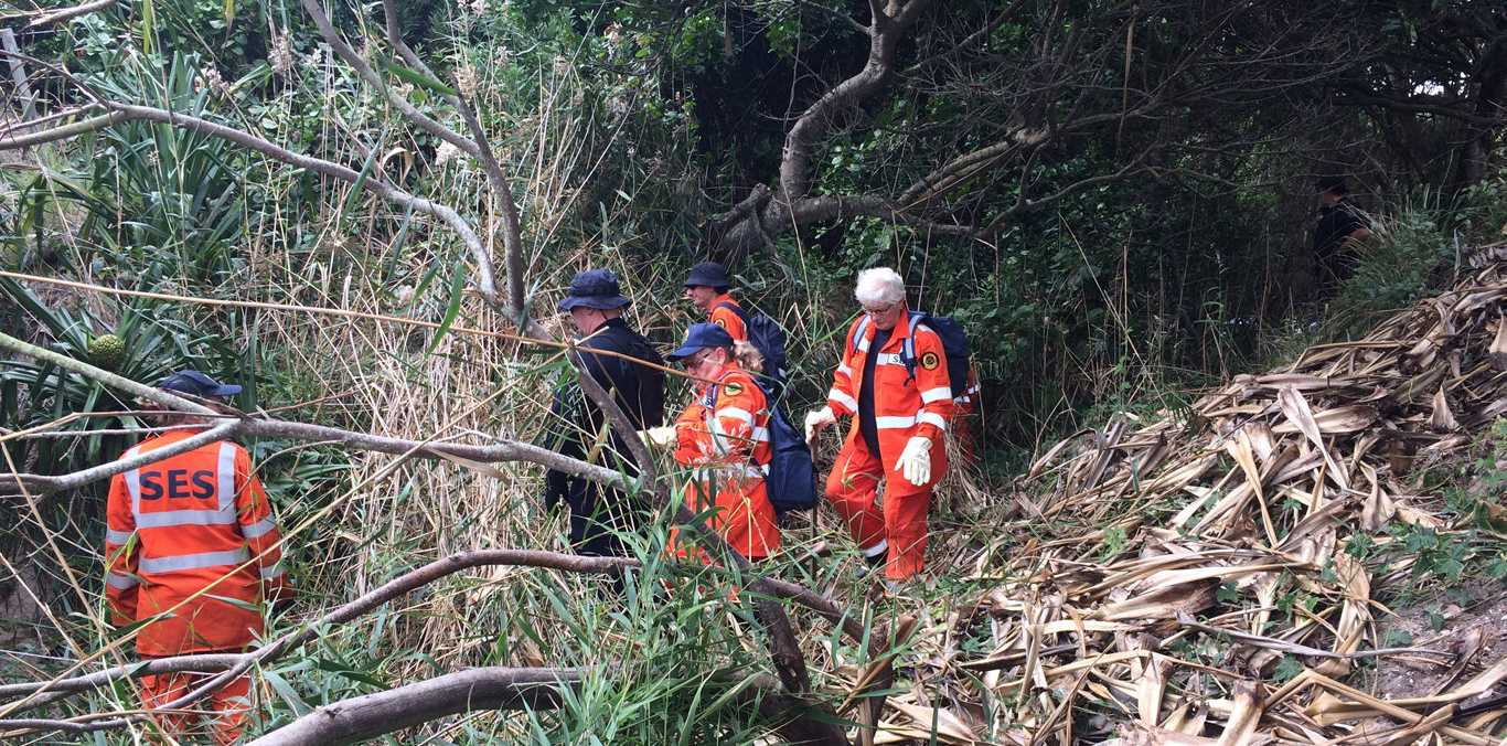 The SES continue their search for missing Belgian teen Theo Hayez in bushland near The Pass at Byron Bay.