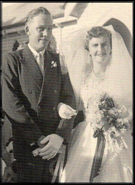 Harold 'Frosty' and Heather McLean on their wedding day in June 1959.