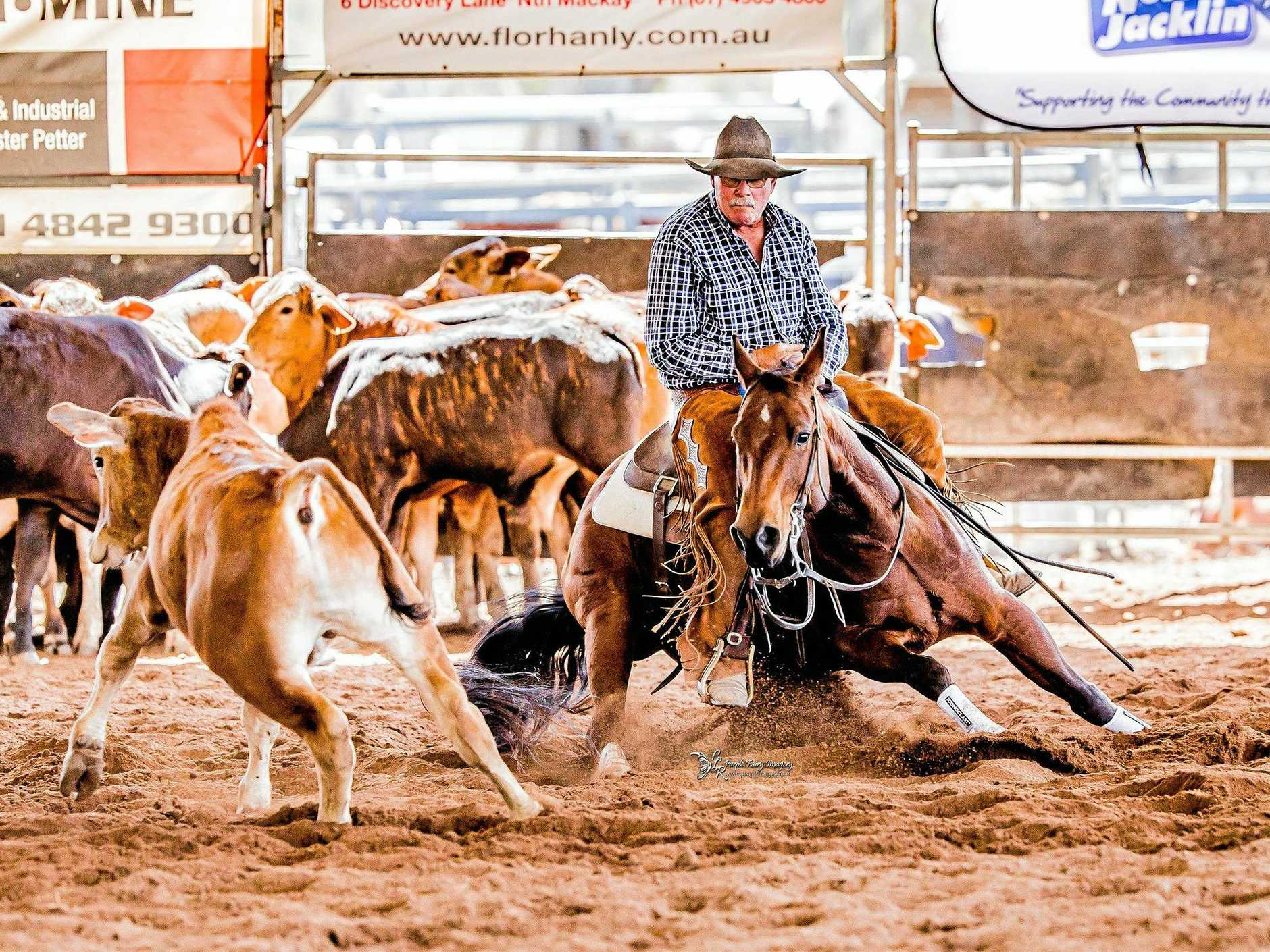 CUT ABOVE: Stanwell's John Howe has been inducted into the National Cutting Horse Association of Australia Heritage Hall of Fame.