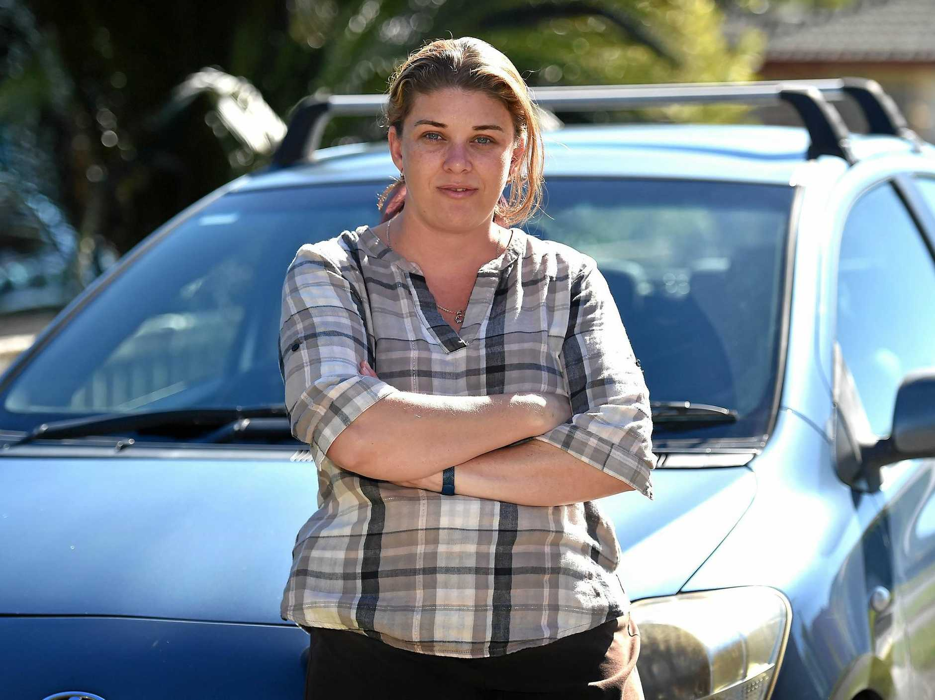SHAKEN UP: Skye McKenna saw a horrific crash on the Bruce Highway on Sunday night.