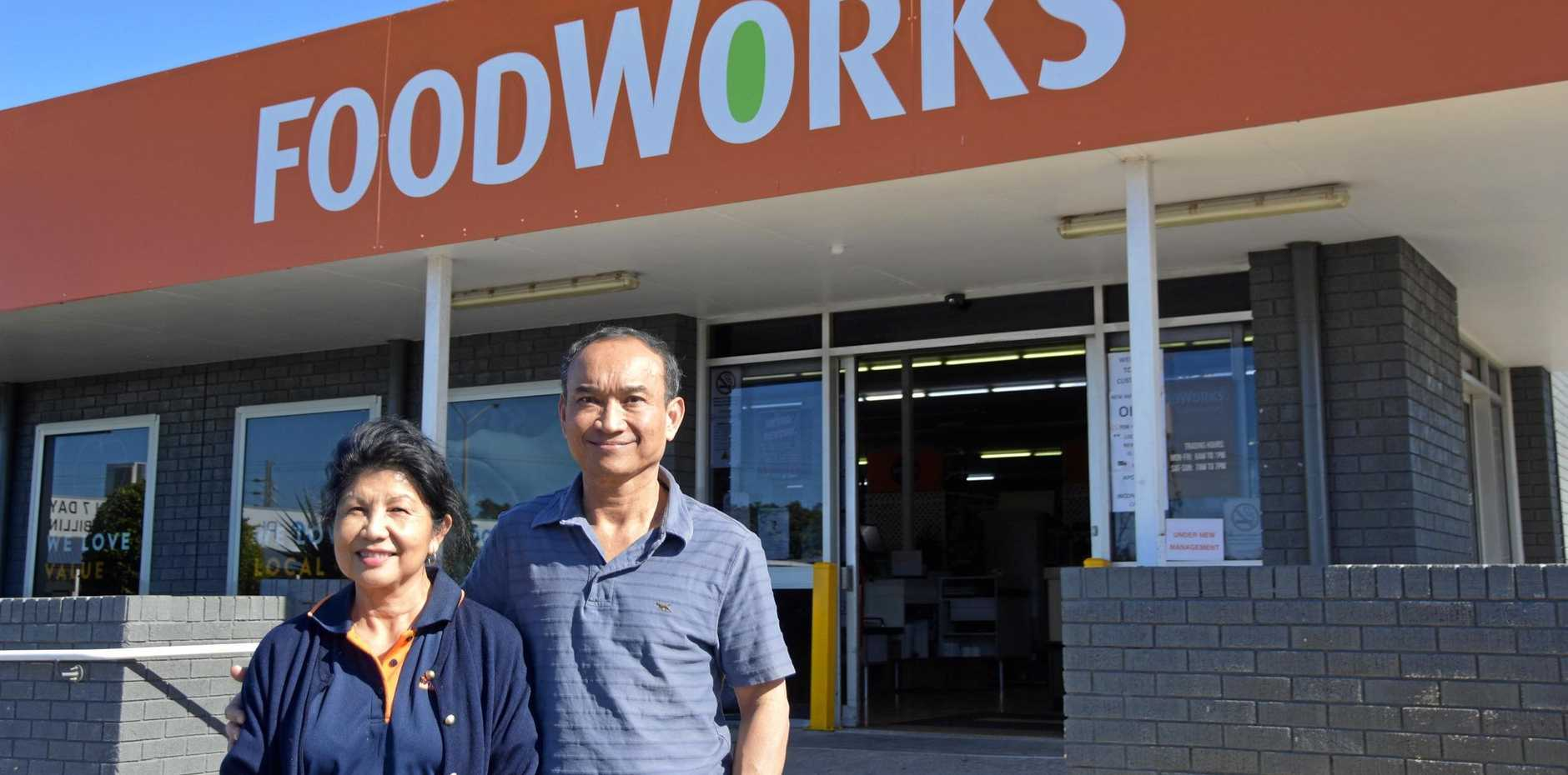 NEW OWNERSHIP: meet the new owners of the Toolooa St Foodworks, Serey Pao and Sam Pao.