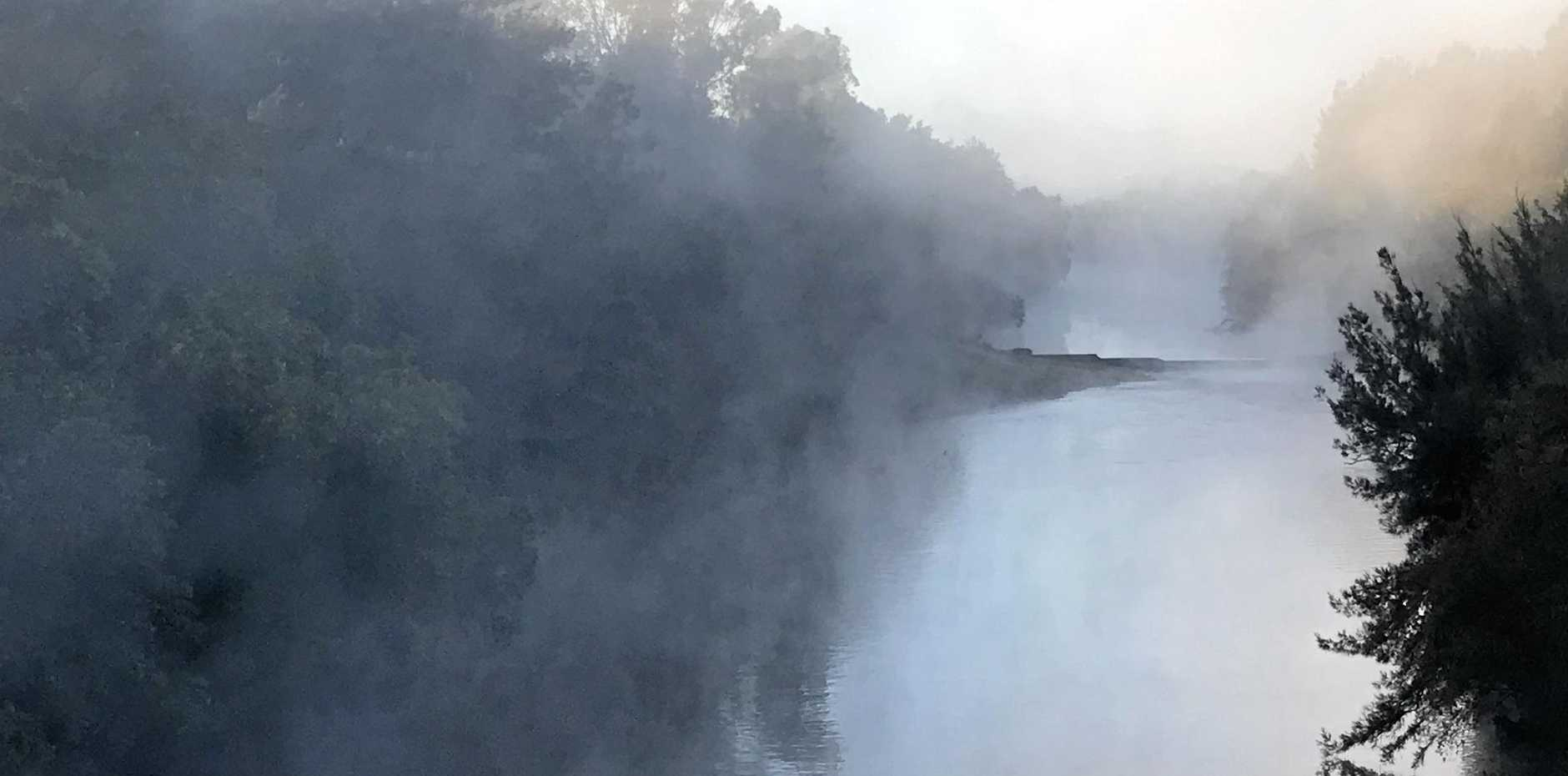 FREEEZING MORNING: Gympie residents awoke to a blanket of fog as temperatures dropped below 2C. This photo was taken over Kidd Bridge just after 6.30am.