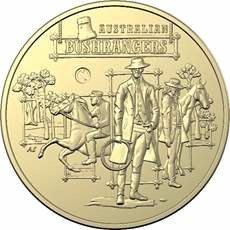 Australian bushrangers limited edition Royal Australian Mint coin.