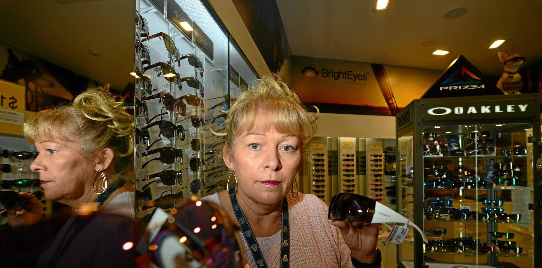 ANGRY: Georgia Dixon of Bright Eyes in Caloundra was assaulted by a juvenile as he tried to flee the sunglasses store with stolen merchandise.