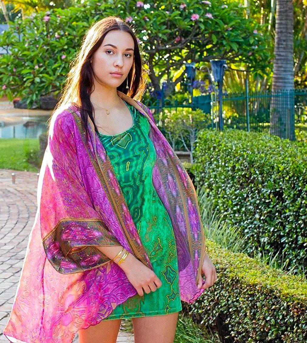 Miramaya Heart Short Kimono, $490, mira-maya.com