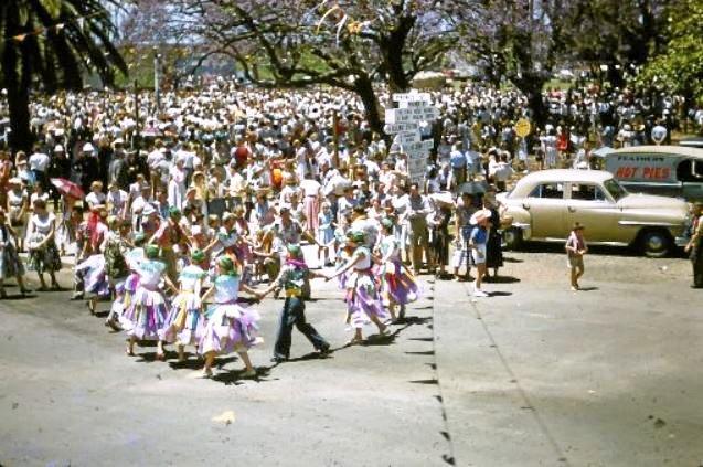 BACK IN TIME: The Jacaranda Festival in the 1950s.