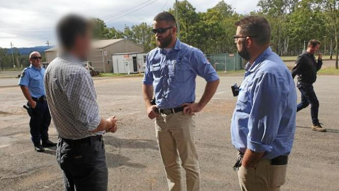 Police have arrested and charged a farmer (whose face they have blurred) with cattle theft and animal cruelty offences. Picture: Contributed.