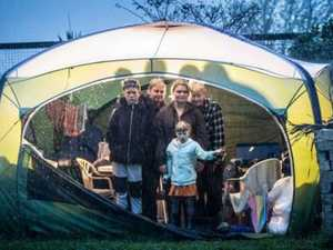Family-of-seven lives in tent with two disabled kids