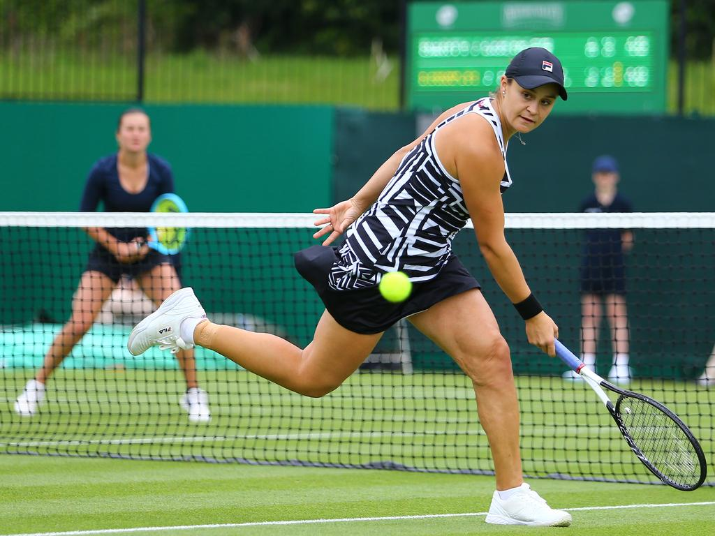 Ash Barty returned to competition after her French Open win.