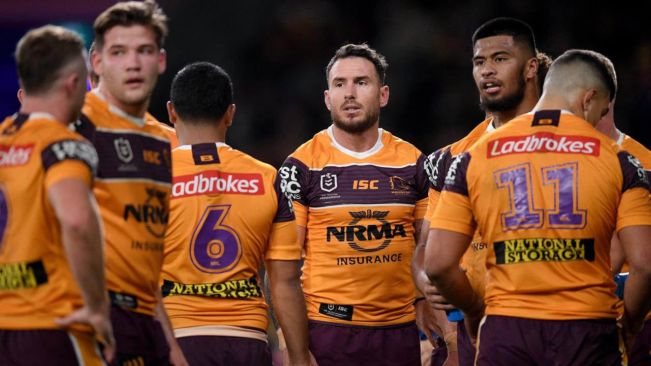 The Broncos are currently 12th in Seibold's first season in charge and in danger of missing the playoffs. Picture: AAP