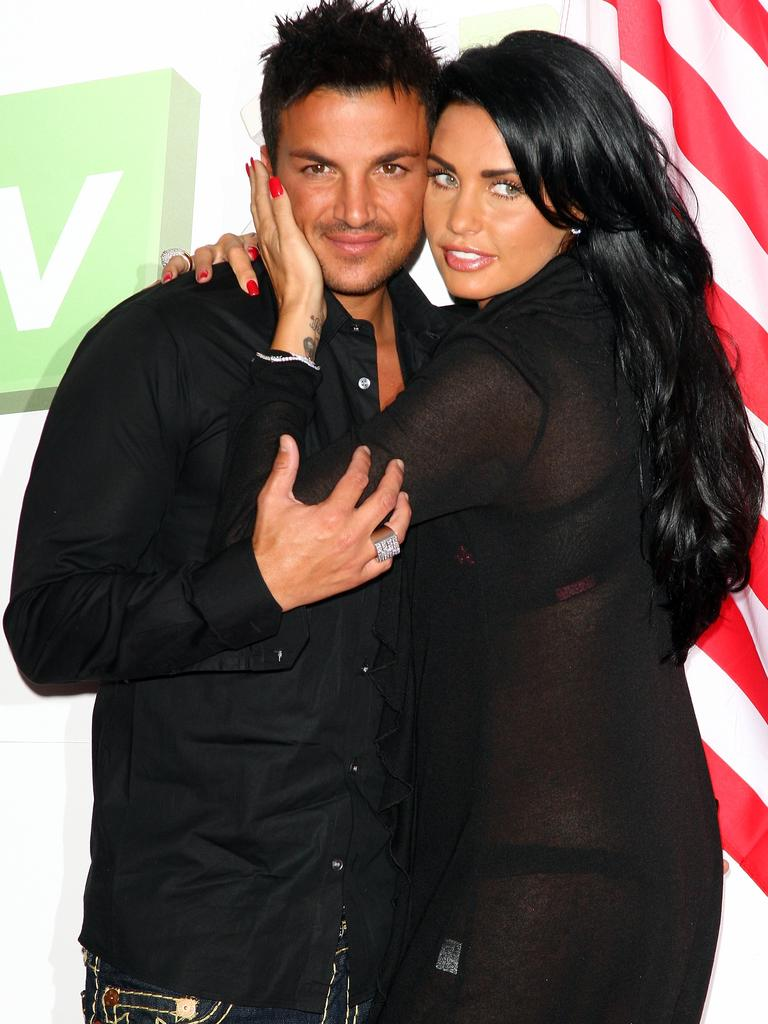 Peter Andre with ex-wife, Katie Price. Picture: Getty Images