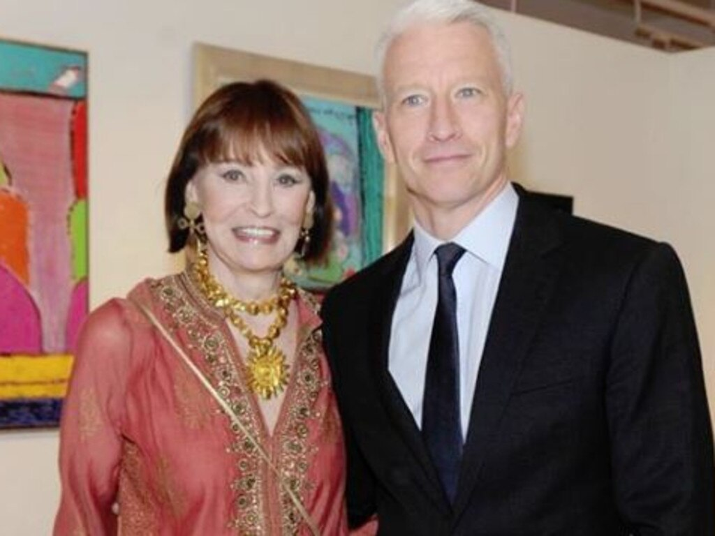 Gloria Vanderbilt and her son, CNN anchor, Andreson Cooper. Picture: Instagram