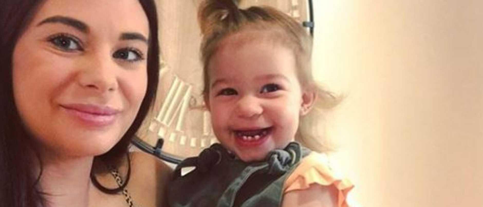 Georgina Manios with her baby Evie