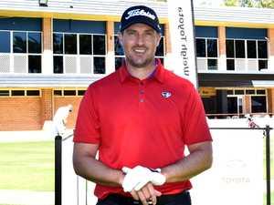 Darren Beck at the Rockhampton Pro Am golf sponsors