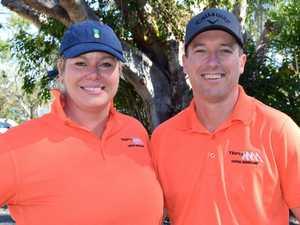 Eryn Mooney, Matt Wex at the Rockhampton Pro Am golf
