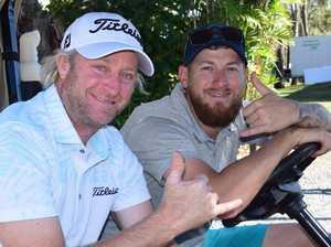 Peter Wilson and Jake Crear at the Rockhampton Pro Am