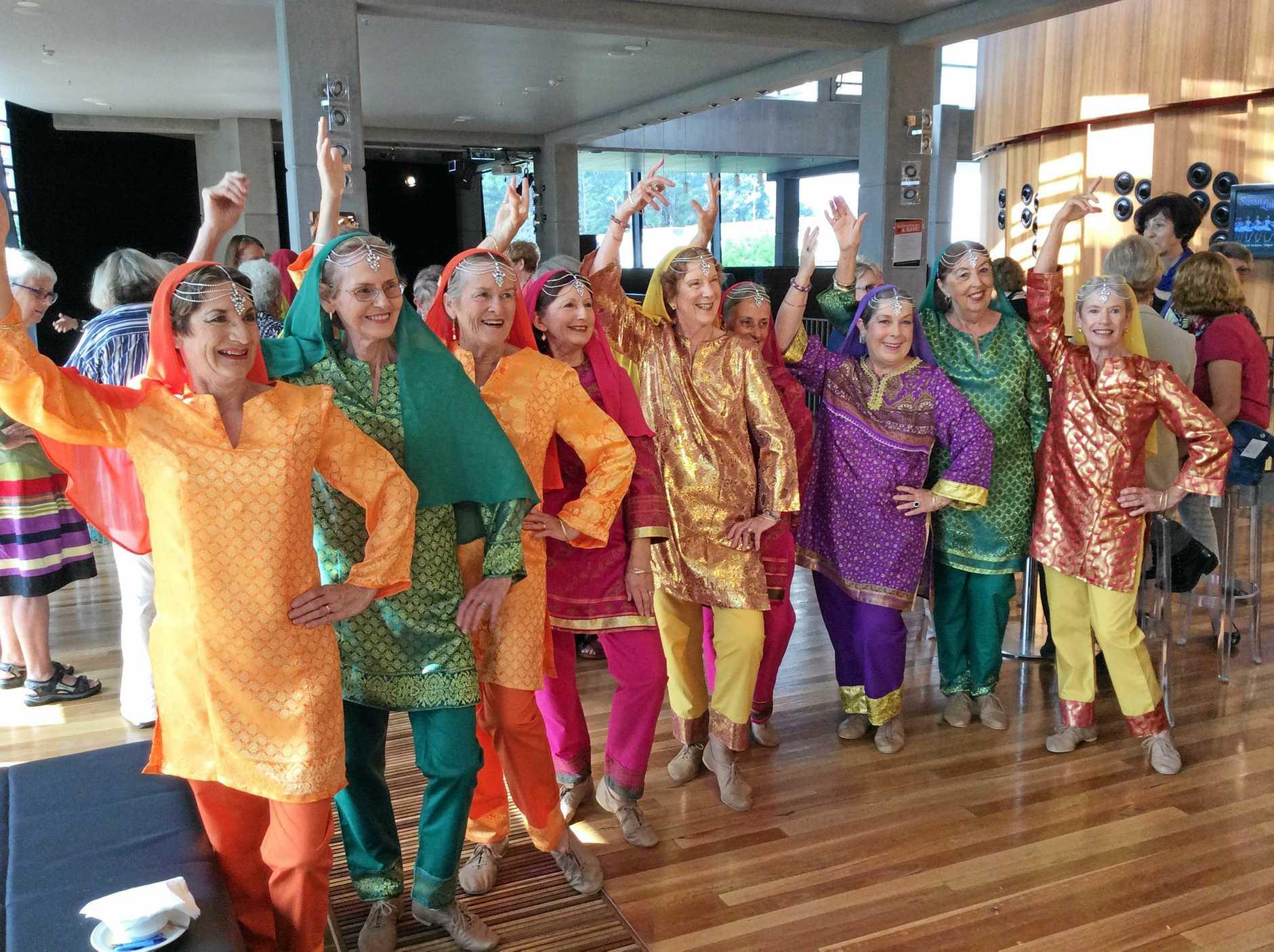 U3A Port Macquarie Hastings International Dance Group go Indian.