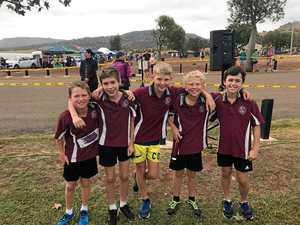 Monto school team runs dam good race in Biloela