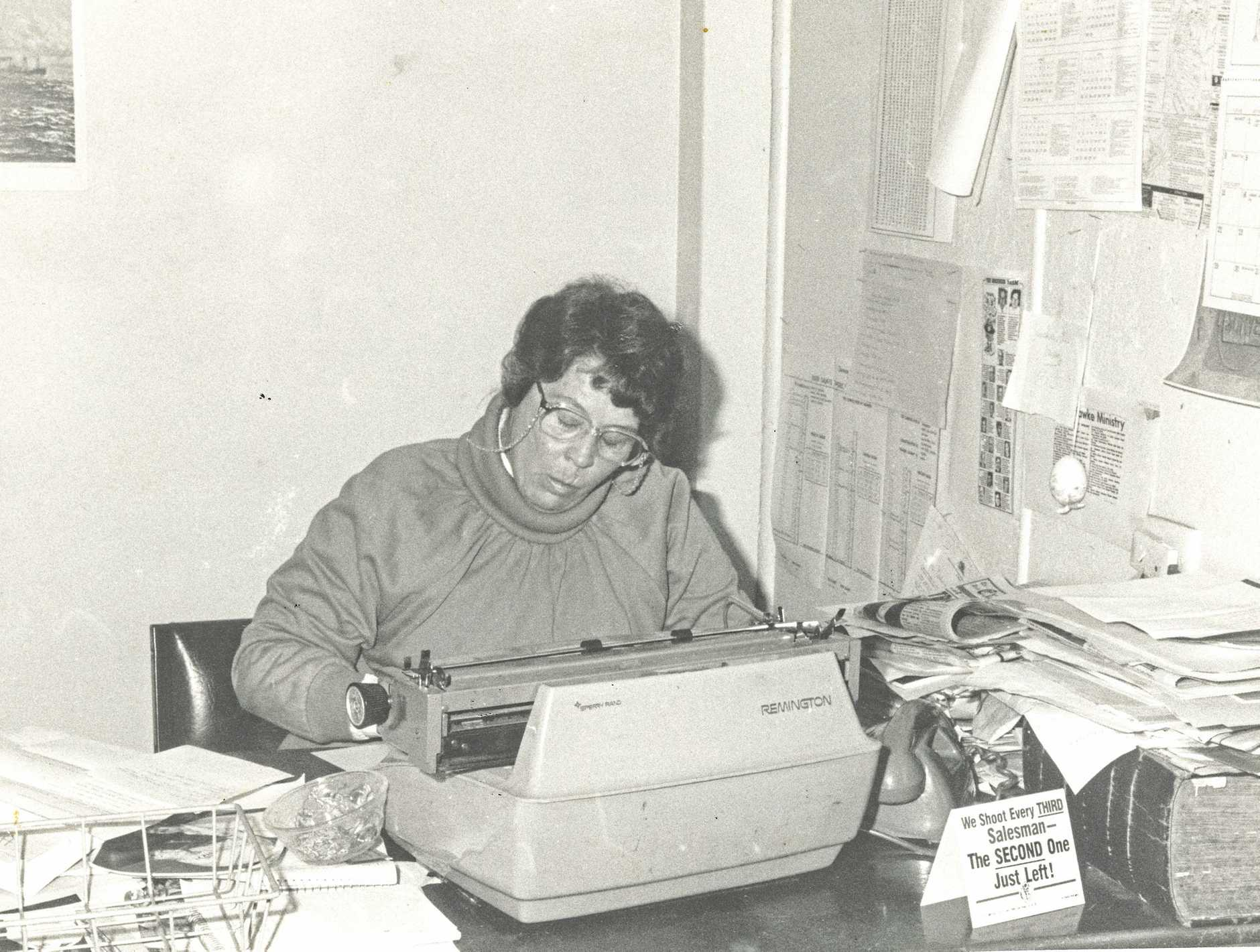 LAURETTA GODBEE: Hard at work in the early 1980s.