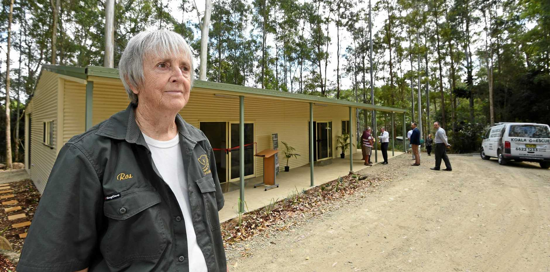 WILDLIFE: Roslyn Irwin at the opening of the FRiends of the Koala's new facilities in 2017.