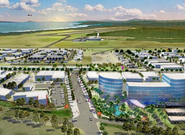 An artist's impression of the Coffs Harbour Airport Enterprise Park.