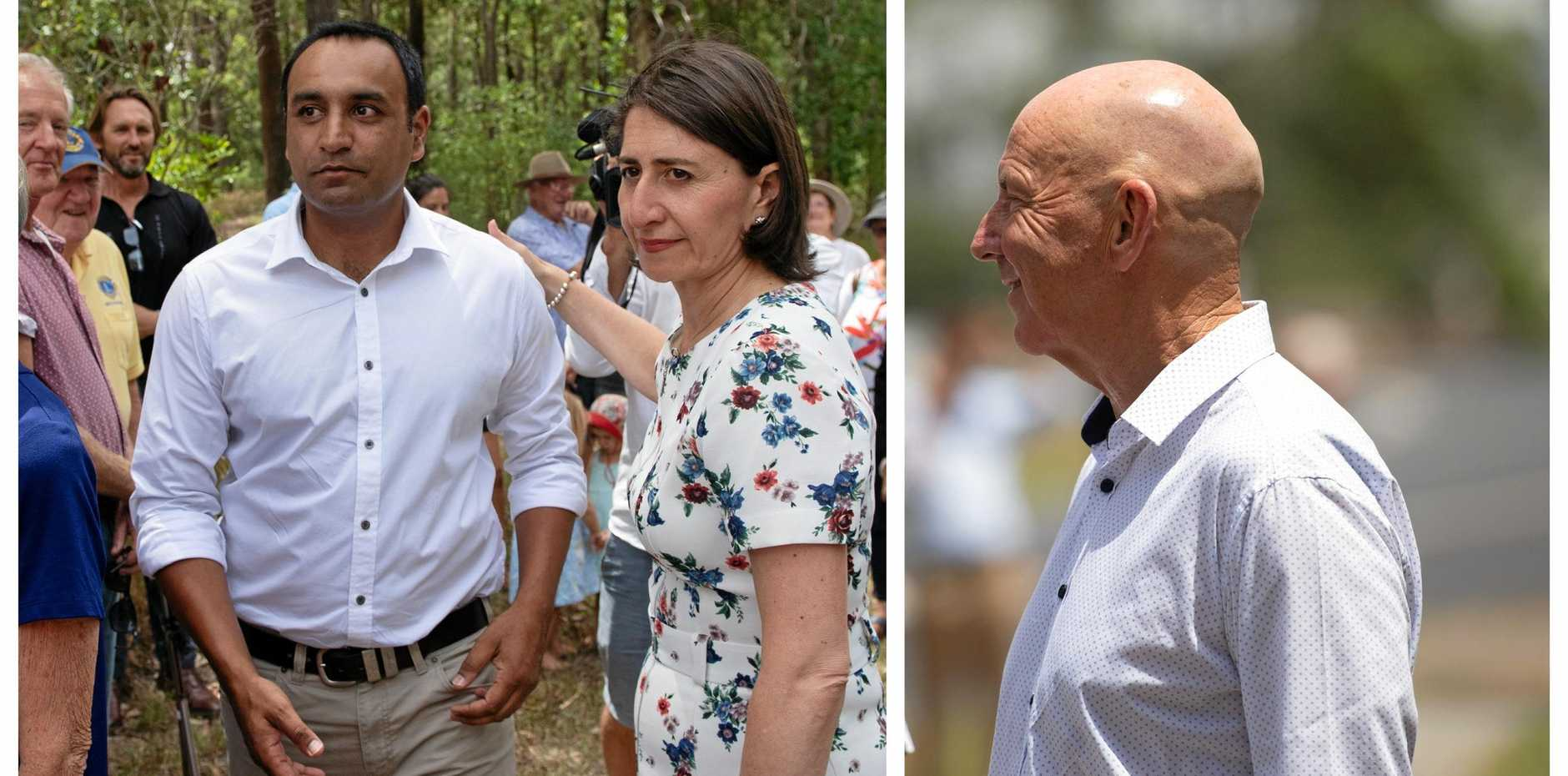 BIPARTISAN SUPPORT: Gurmesh Singh and Gladys Berejiklian and Labor's Tony Judge were both at the pre-election announcement for the Woolgoolga multipurpose centre.