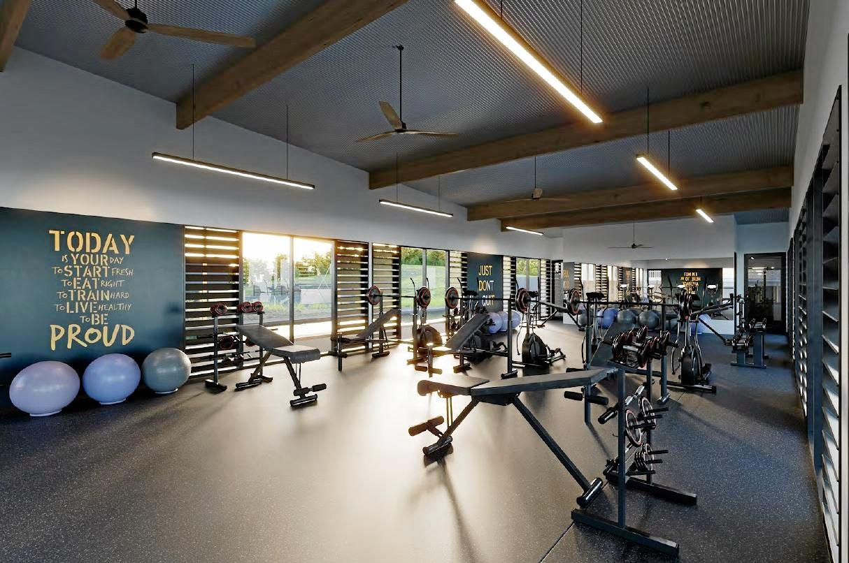 The gym at Adele House.