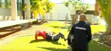 Top cop's crushing tackle brings down serial pest