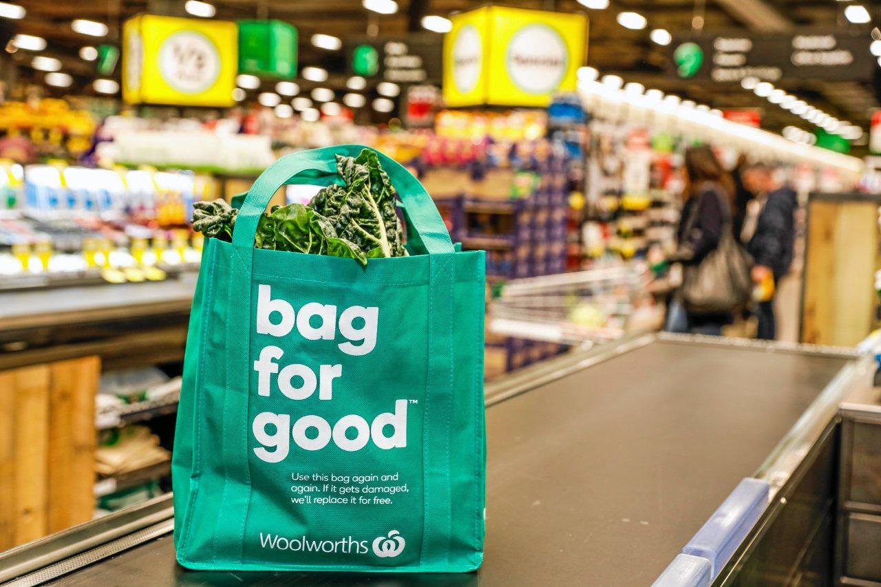 REDUCE, REUSE: Only 16 per cent of store transactions at Woolworths now include the purchase of a reusable bag.