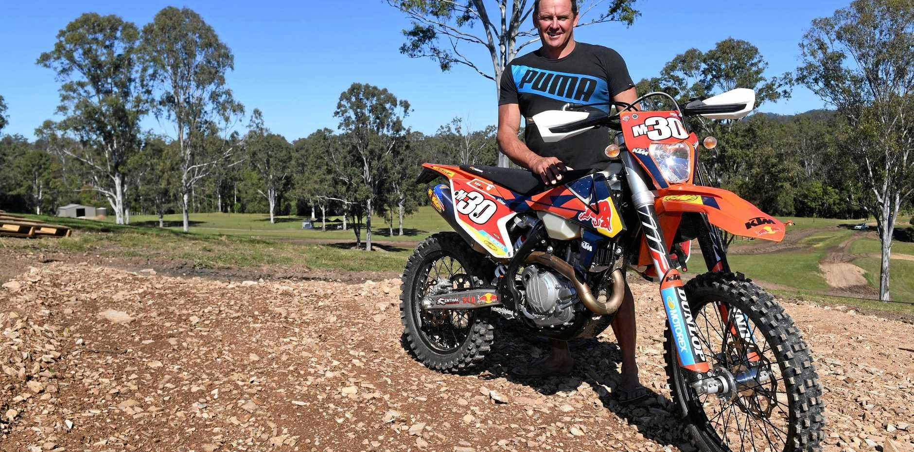 GOOD RACING: MX Farm Queensland 's Mark Bishop is hoping for a big crowd.