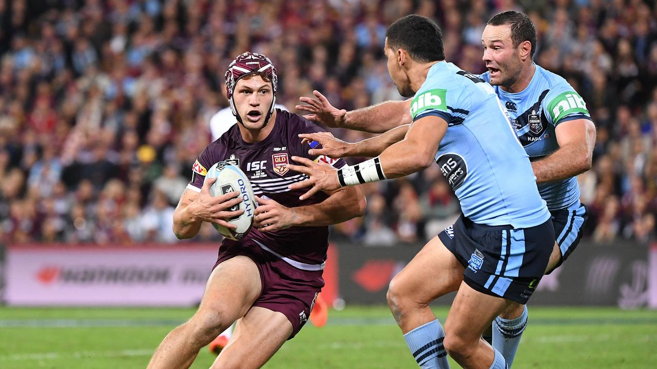 Rugby union is hunting NRL superstar Kalyn Ponga. Picture: Dave Hunt