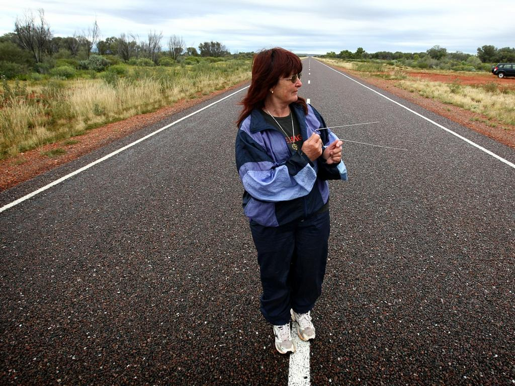 Lorelle Trickett went on a search for Peter Falconio's burial site. Picture: Brad Hunter