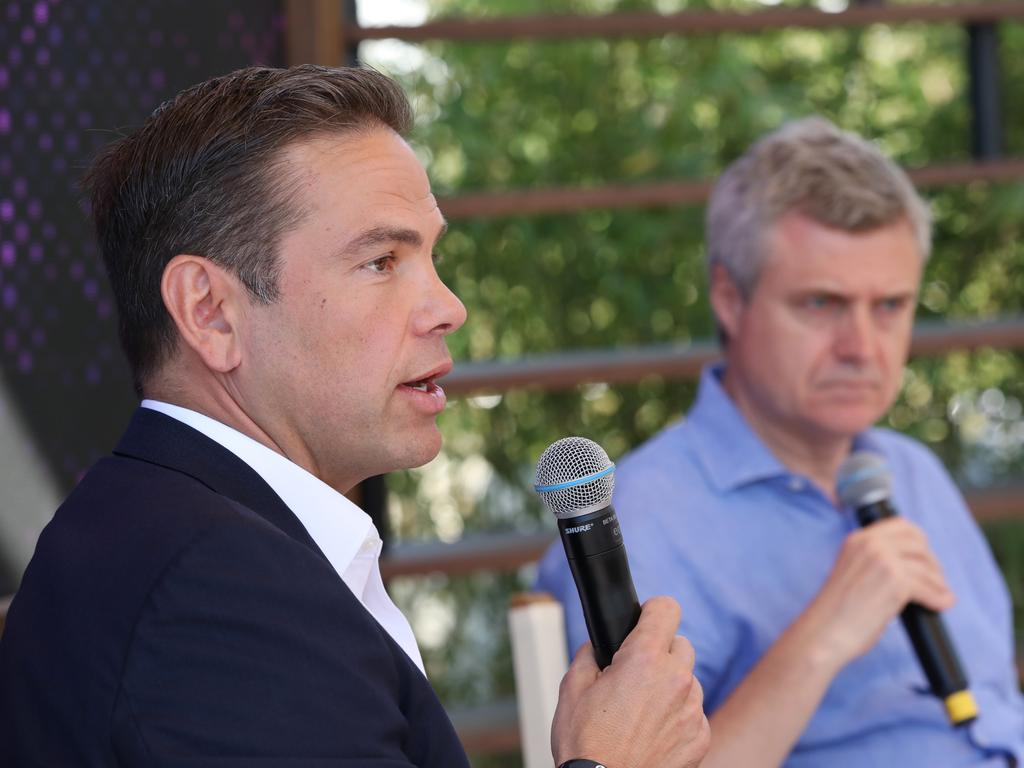 Cannes Lions Festival 2019. Lachlan Murdoch, CEO and Chairman of Fox in conversation with Mark Read, CEO of WPP. Picture: Ella Pellegrini