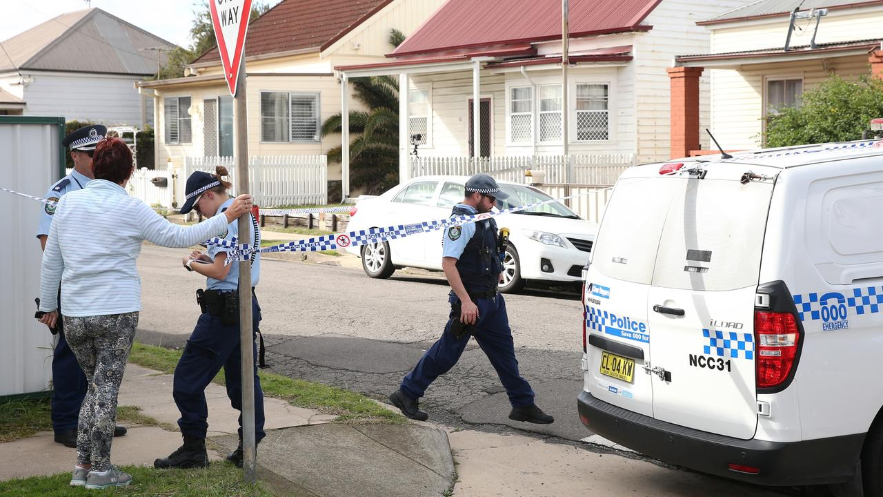 The newborn baby was found dumped in the backyard of the home in a bloodied plastic bag. Picture: Peter Lorimer