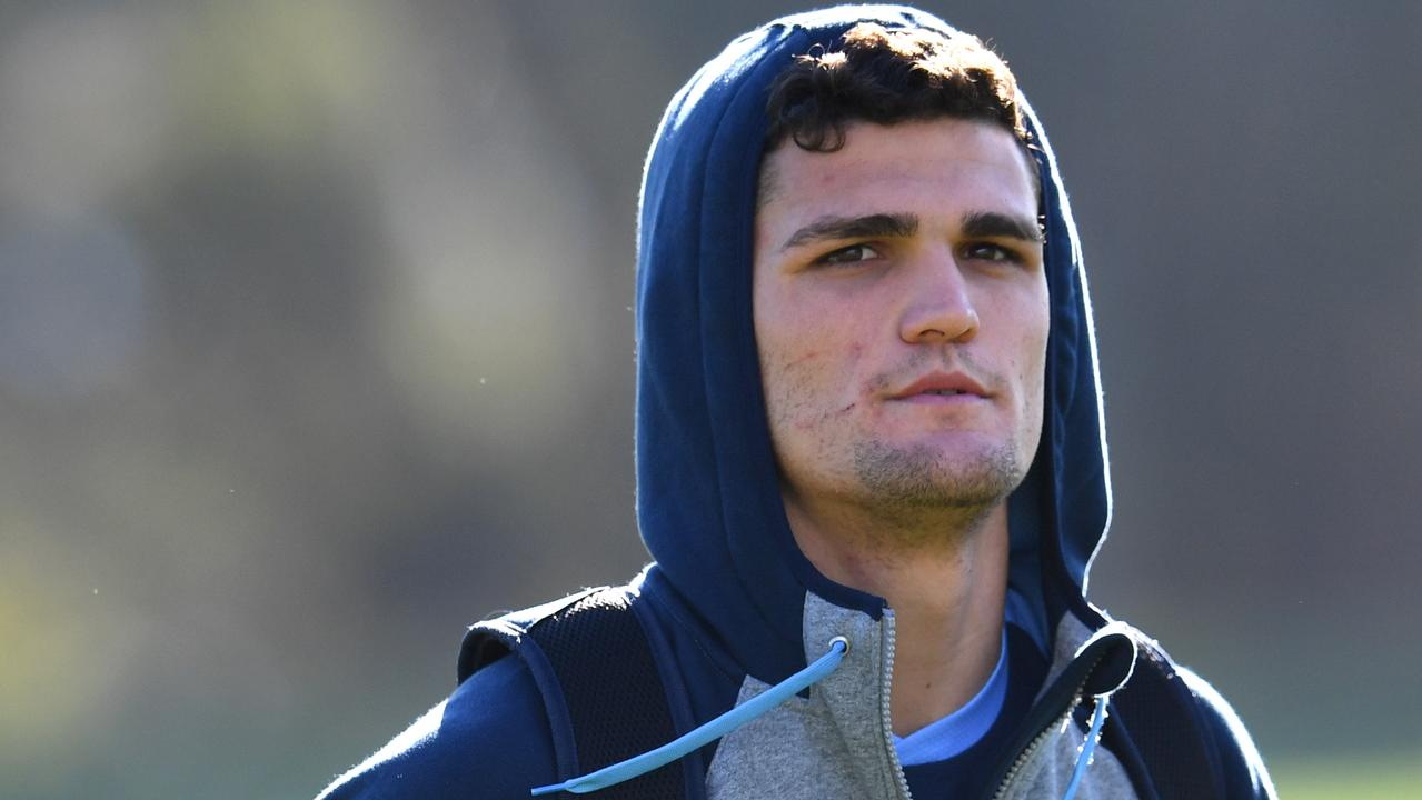 Under pressure: Nathan Cleary.