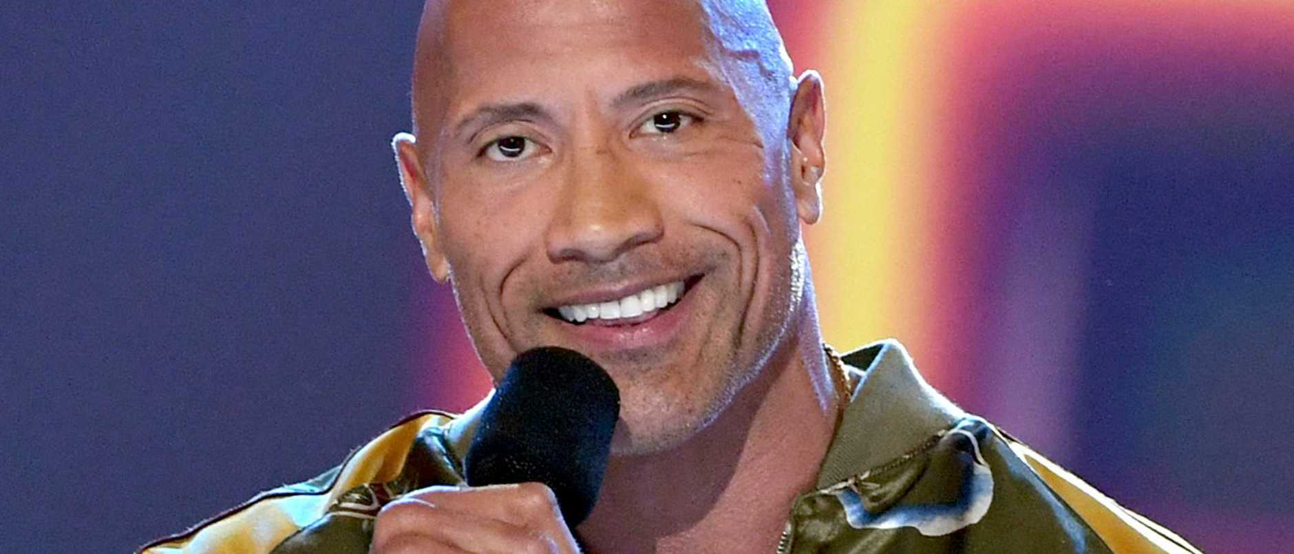 Dwayne Johnson accepts the MTV Generation Award.