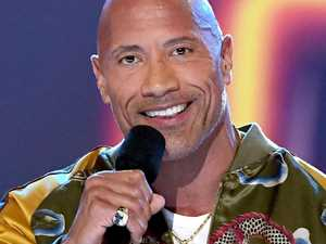 'The Rock' stuns crowd with career advice