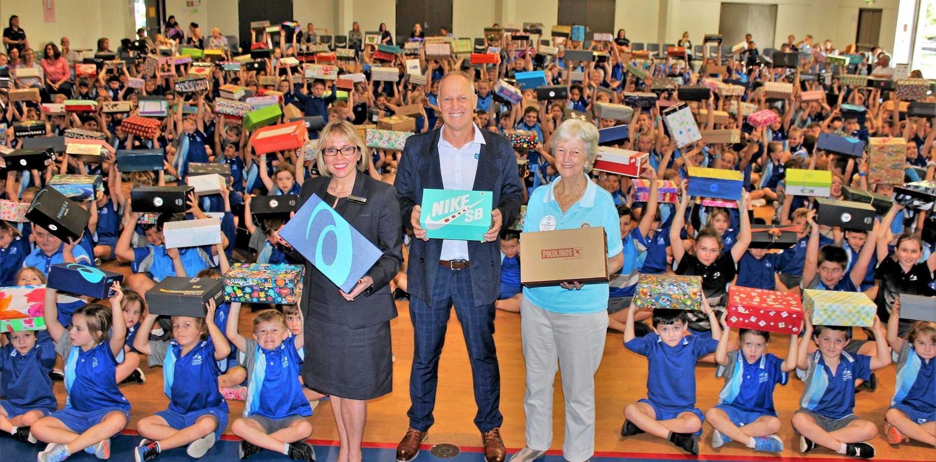 BIG HEARTS: Pupils at Tewantin State School have put together more than 500 education care packages to send to children in East Timor.