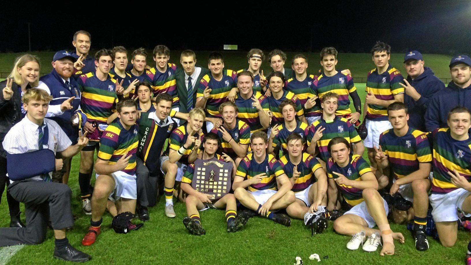 CHAMPS: Sunshine Coast Grammar won the Garth Hunt Shield after downing Siena Catholic College in the First XV grand final at Sunshine Coast Stadium on Wednesday night.