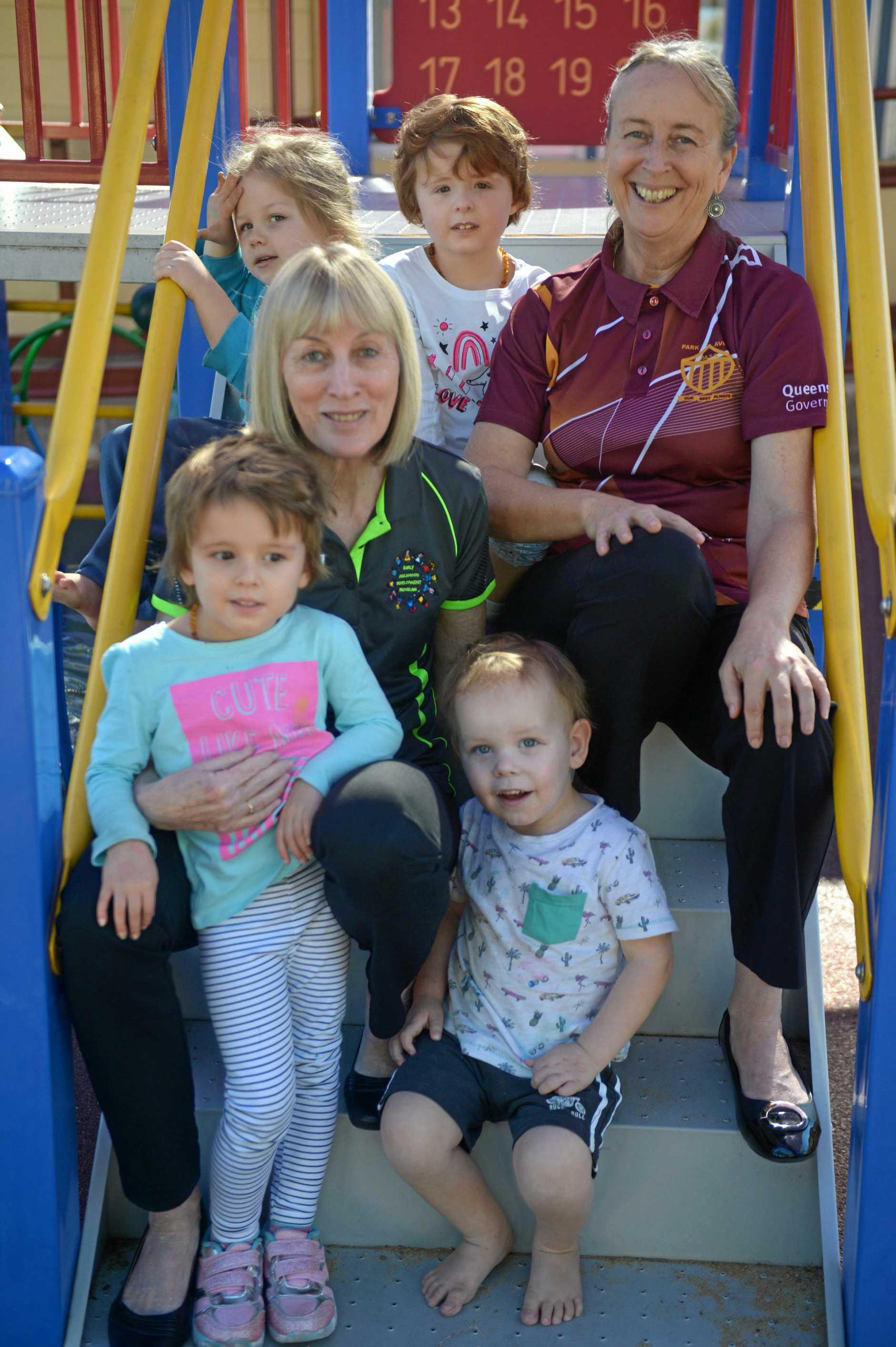 Zane, Ivy, Helen Heery, Gale Ilott, Josie and John at the Early Childhood Development Program in Park Avenue