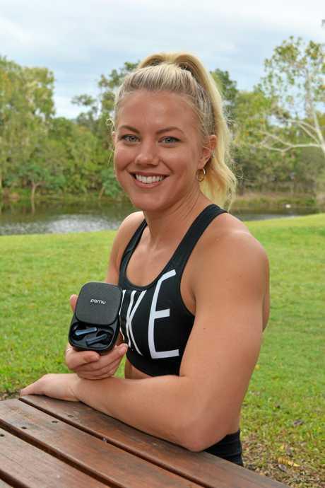 Brooke Hindmarsh with the PaMu Slide earbuds.