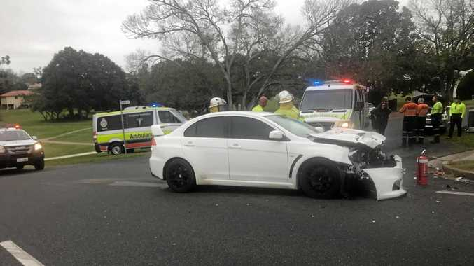 BREAKING: Man injured, cars badly damaged in Gympie