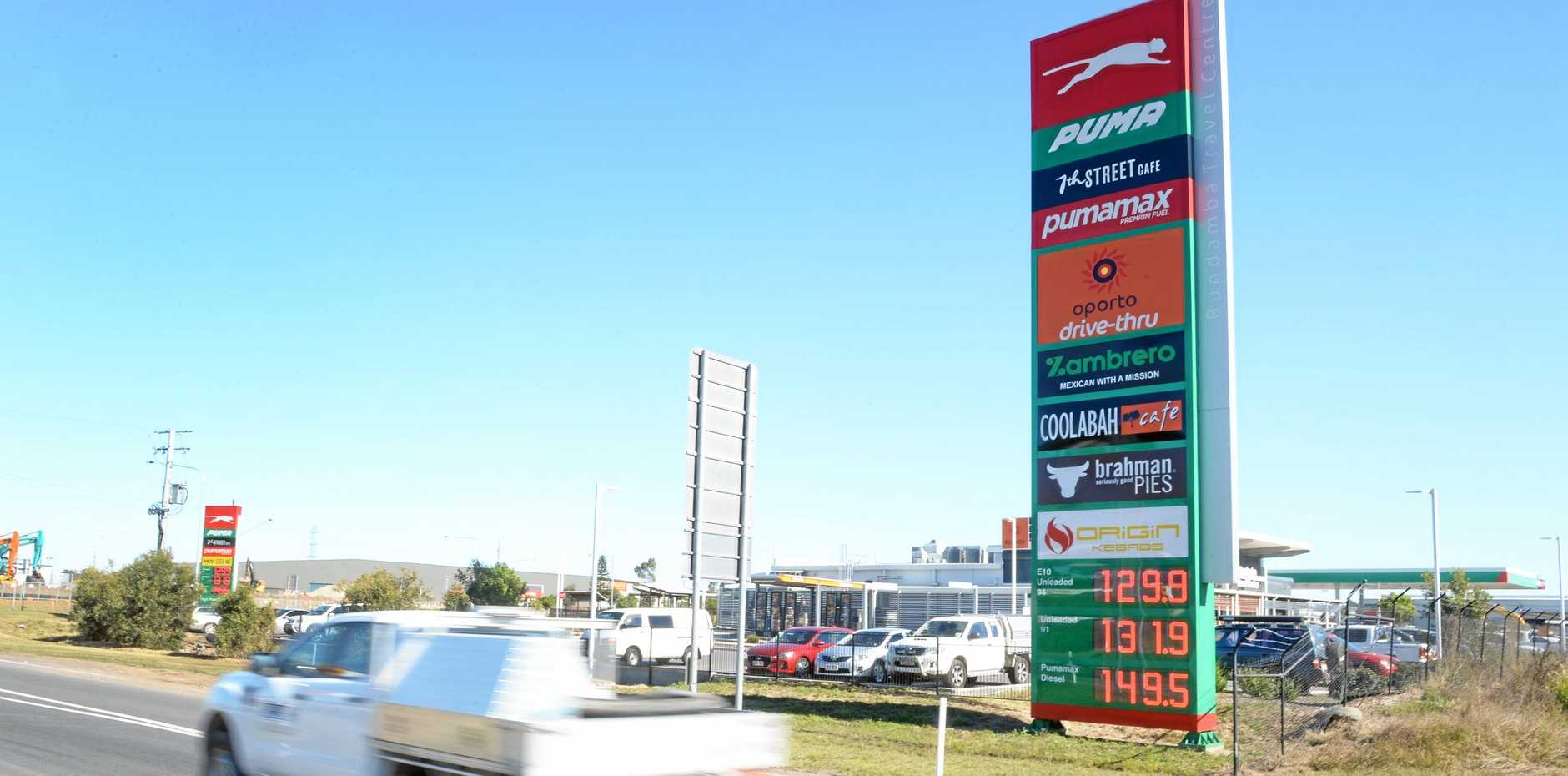 Puma service station at Bundamba.
