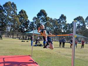 Victory leap for Assumption College student