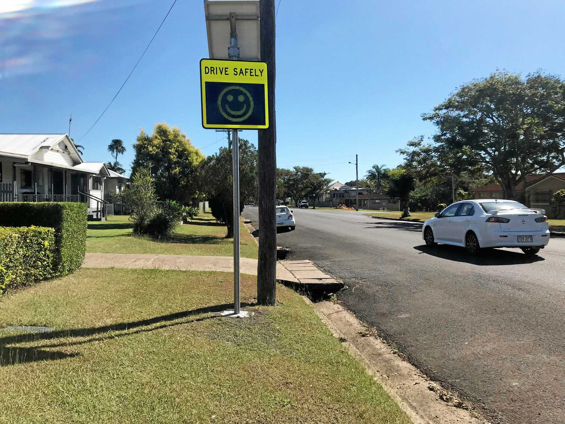 SMILEY FACE: Council will look into implementing smiley face speed signs across the Tweed Shire.