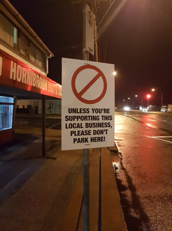 This sign has caused outrage.   Image: Supplied.