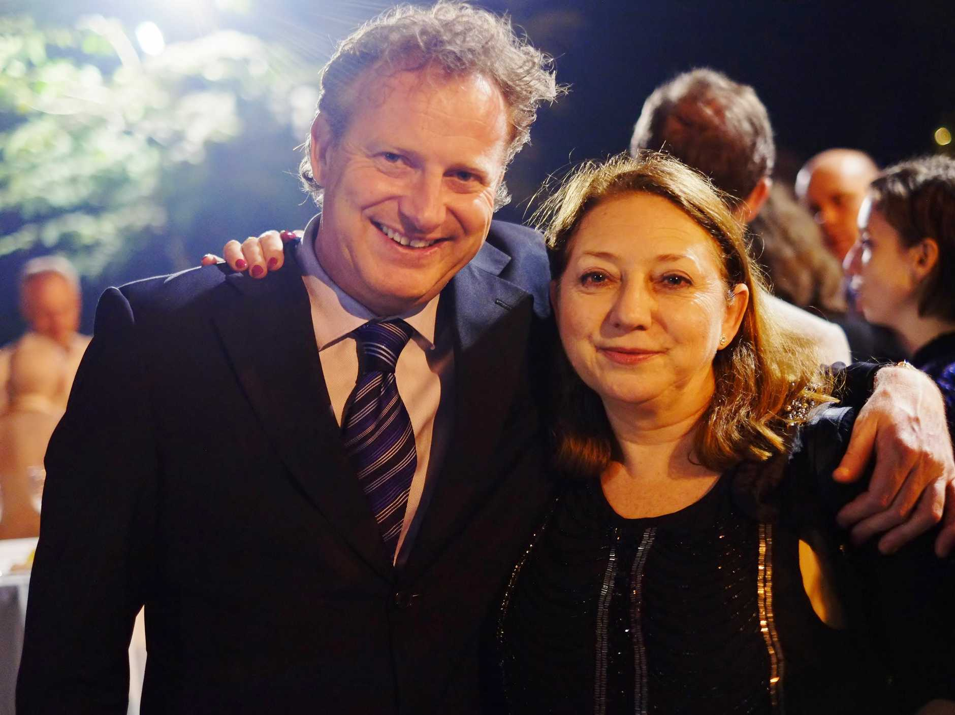 Conductor Alexander Briger AO and his sister, Australian World Orchestra's CEO Gabrielle Thompson AM.