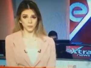 Newsreader's stunning on-air mistake