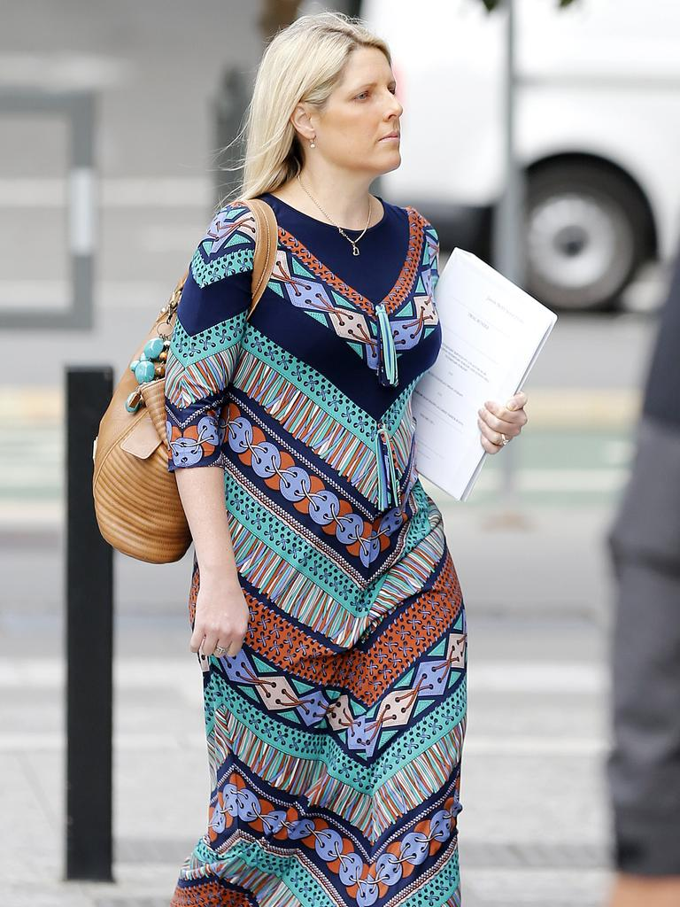 Carrie Barlow outside Brisbane District Court recently. Picture: Josh Woning/AAP