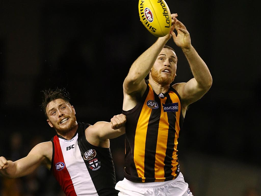 Roughead in action against the Saints.